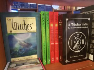 Witch books in a bookstore in Boulder