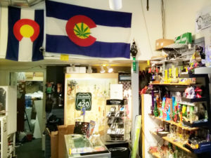 Picture of a marijuana shop in Boulder